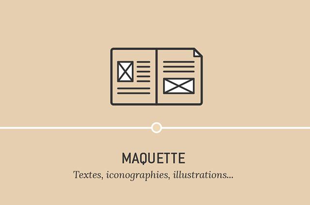 Maquette - Textes, iconographie